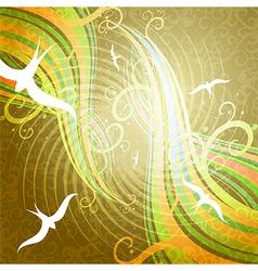 birds in sky vector image