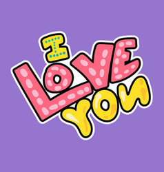 cartoon romantic love sign vector image