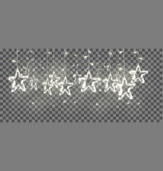 christmas background de-focused lights with vector image