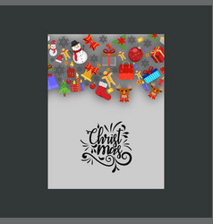 christmas gift items poster template vector image