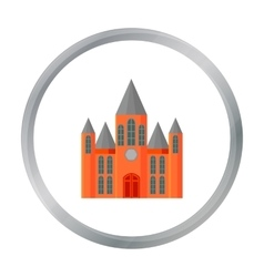 Church icon cartoon Single building icon from the vector