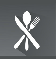 crossed fork spoon and knife icon vector image