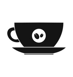 Cup of coffee icon simple style vector image