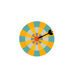 dartboard with arrow in center target isolated on vector image