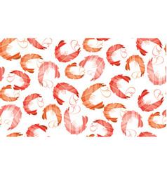 decorative stylish shrimp seamless pattern vector image