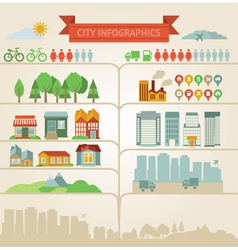 Design elements for infographics about city and vi vector