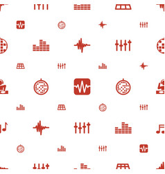disco icons pattern seamless white background vector image