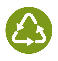 Eco product reused material symbol isolated icon vector