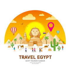 egypt travel pyramid traditional design vector image