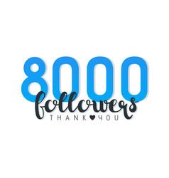 Eight thousand followers banner vector