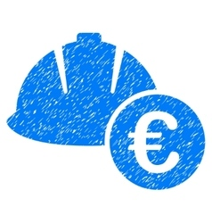 Engineering Helmet And Euro Grainy Texture Icon vector