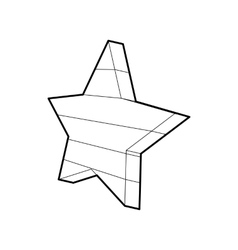 Five-pointed star icon outline style vector