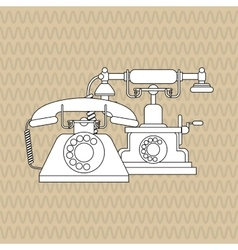 Flat about vintage phone design vector image