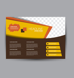 Flyer brochure billboard template landscape vector