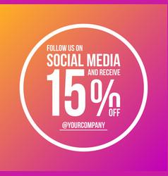 follow us on social media sign poster circular vector image