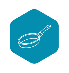 Frying pan icon outline style vector