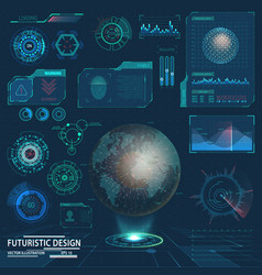 future hud elements or interface for futuristic ui vector image