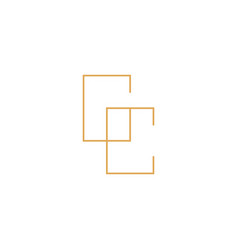 gc monogram lettermark logotype logo icon vector image