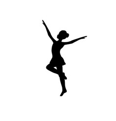 girl gymnastic sport silhouette sportswoman vector image