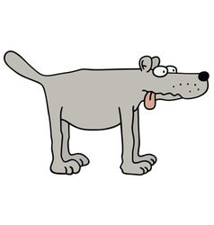 Gray dog vector