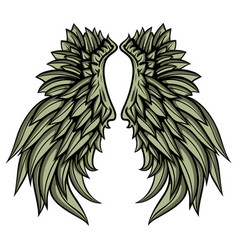 Hand drawn wings vector