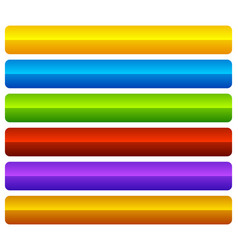 horizontal colorful vivid buttons with blank vector image