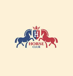 Horse club logo vector