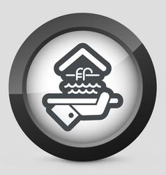 Hotel icon swimming pool vector