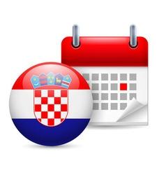 Icon of national day in croatia vector image vector image
