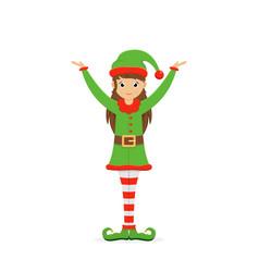 Little cute elf vector