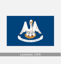 louisiana usa state flag la usa vector image