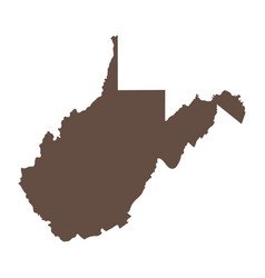 Map of the us state of west virginia vector