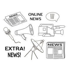 News set icon vector