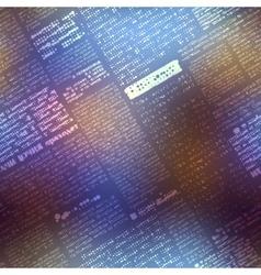 Newspaper pattern on blurred background vector
