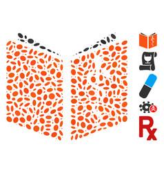 Oval mosaic drug handbook vector