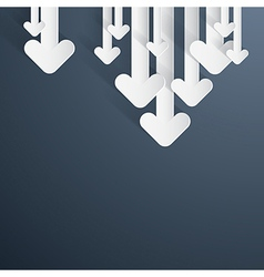 Paper Arrows on Dark Blue Grey Background vector