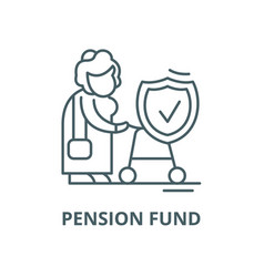 Pension fund line icon linear concept vector