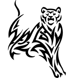 Puma in tribal style vector