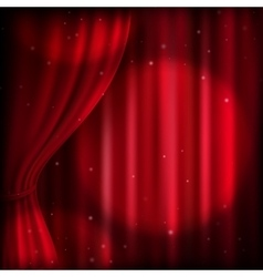 Red curtain and spot light EPS 10 vector