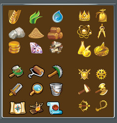 resources for game various elements vector image