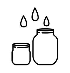 rising jar icon line art style vector image