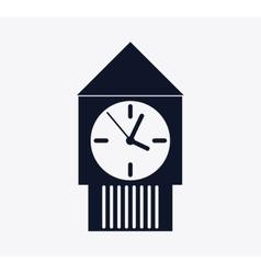 Silhouette Clock icon Time design graphic vector