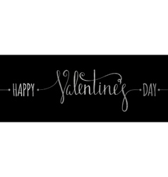 Silver textured happy valentines day inscription vector