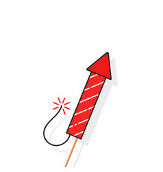 simple rocket for firework vector image