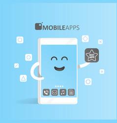 Smartphone concept online app market purchase vector