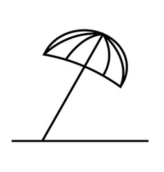 Sun umbrella icon vector