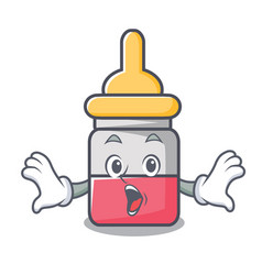 Surprised nassal drop mascot cartoon vector