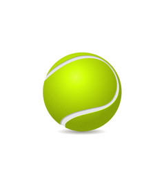Tennis ball isolated vector