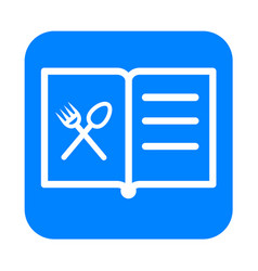 Thin line book menu icon vector