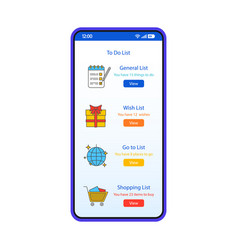 To do list smartphone interface template vector